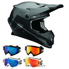 Thor MX Sector LEVEL matt Schwarz Grau Helm Crosshelm MX Motocross Cross HP7 Bri
