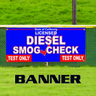 Diesel Smog Check Licensed Test Only State of California Banner Sign