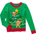 Holiday Time Girls' Christmas Tree with Lights Holiday Sweater Size 6-6X