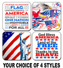 4 DRINK COASTERS - USA 2 America Patriotic Flag United States Pledge Allegiance