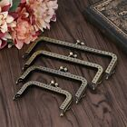 Square Bronze Purse Bag Frame Metal Kiss Clasp Clip Lock Bags Making Crafts DIY