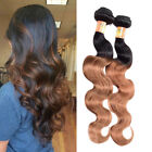 """150g 10""""-22"""" Brazilian Ombre Real Human Hair Extension Body Wave Hair Weft 1b/30"""