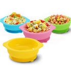 Baby Kids Silicone Suction Table Food Tray Placemat Bowl Plate With Sucker
