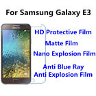 3pcsFor Samsung Galaxy E3 High Clear/Matte/Anti Blue Ray Screen Protector