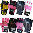 Weight Lifting Gloves Leather Body Bulding Gym Fitness Gloves Ladies ,Mens