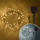 200 LED Solar Powered Garden Patio Outdoor Fairy String Lights on Clear Cable