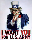 """UNCLE SAM """"I WANT YOU FOR U.S. ARMY"""" (REPRINT) - 8X10 or 11X14 PHOTO (MP-013)"""