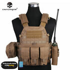EMERSON Tactical Vest LBT6094A Plate Carrier w/3 Pouches Airsoft Gear Paintball