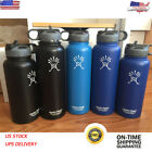 Kyпить 40oz Hydro Flask Insulated Stainless Steel Water Bottle Wide Mouth Straw Lid New на еВаy.соm