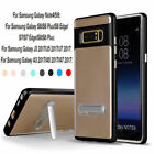 For Samsung Galaxy Note 8 S8 Kickstand Clear TPU+PC Hybrid Shockproof Cover Case