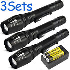 Sporting Goods - 3PC Shadowhawk 15000Lumen T6 5Modes 18650 LED Flashlight Zoomable Military Torch