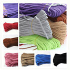 3Meters 5mm Braided Leather Colorful Jewerly Bracelet Thread DIY Making Cord