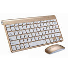 Slim Wireless Keyboard Mouse Kit For Laptop PC APPLE Macbook pro air iMac