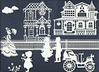 LOTS 6 - 28 PCS. SUB-SETS VINTAGE SCENE DIE CUTS* HOME FENCE HOUSE BOY GIRL READ