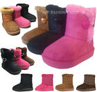 Внешний вид - New Classic Baby Round Toe Side Button Faux Fur Boots Toddler Shoe Size 3 to 8