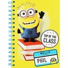 Minions A5 Spiral Bound Notebook, Notepad - Top of the Class - School Stationery