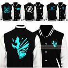 Anime Men Slim Casual Cotton Sweatshirt Baseball Uniform Sports Jacket Coat