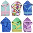 Girls Boys Kids Unisex Hooded Bathrobe Extra Absorbent 100% Egyptian House Coat