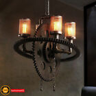 Steampunk Gear Pipe Chandelier Edison Light Heavy Metal Pendant Light Fixture AU