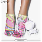 3D Full Printing Meias Women Socks Low Cut Ankle Sock Cotton Hosiery Socks