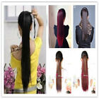 Women Wrap Around Clip On Ponytail Hair Extensions Straight Ponytail Hair Piece