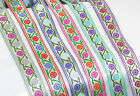 """Jacquard Ribbon 1"""" (25mm) 100% Poly - Two Color Flower *COLORS* 18 meter ROLL."""