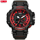 SMAEL Men Watches White Sport Watch LED Digital 50M Waterproof Fashion Watches