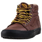 Vans Sk8 Hi Mte Mens Brown Leather Casual Trainers Lace-up Genuine Shoes