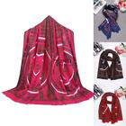 Women Fashion Soft Wool Blend Print Long Shawl Wraps Scarves TXSU