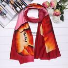Women Lady Fashion Soft Tulip Printing Wrap Shawl Long Scarf TXSU