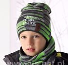 New Boys Kids Children Warm Winter Acrylic Hat Cap Beanie And Snood Set 4-7Years
