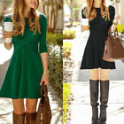 2018 Fashion Women's Long Sleeve Casual Evening Cocktail Party Short Mini Dress
