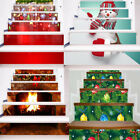 USA 3D Christmas Decorative Stair Stairway Stickers Family Stair Riser Decor