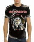 Iron Maiden T-Shirt Hooks in You Bleached metal rock Official L XL 2XL NWT