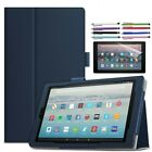 PU Leather Stand Case Cover For Amazon Kindle Fire HD 10 7th Generation  2017