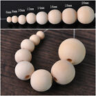 Round Natural Wood Loose Spacer Wooden Craft Beads 6/8/10/12/14/16/18/20/25mm