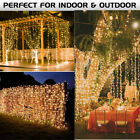9..8FT Warm White Lights 304 LED Fairy Wedding Curtain String Light Christmas US