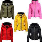 New Kids Warm Puffer Padded Quilted Bubble Fur Hooded Collar Girls Jacket Coat