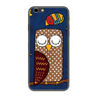 Cartoon Animals Owl Purple Pattern Phone Case Cover For iPhone Samsung LG F02131