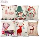 Pillow Case Christmas Decorations FENGRISE 45x45cm For Home Santa Clause