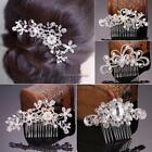 New Bridal Wedding Flower Crystal Rhinestones Diamante Pearls Hair Clip NC89