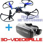 RC Quadrocopter Rayline R8 WiFi Drohne mit VR- 3D Videobrille Live View 2.4GHz