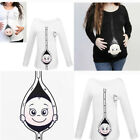 Cute Funny Maternity Cotton T Shirt Pregnant tshirt Baby Shower Gift Top Cartoon