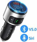VicTsing Car Kit Wireless Bluetooth 5.0 FM Transmitter Radio Music Adapter QC3.0