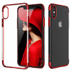 For Apple iPhone X Plus Ultra Thin Transparent Clear Shockproof Bumper Case