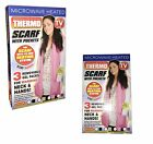 Magical Reheatable Thermo Scarf with Pockets Winter Warmer Micro-Fleece Scarf