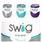 Swig 12 oz Stemless Wine Glass, Stainless Steel, 8 Colors to Choose From