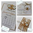VINTAGE SCRABBLE wedding : SAVE THE DATES; 3 designs, 60 cols, personalised