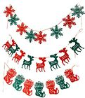 2M Christmas Pennant Party Decoration Flags Banner Bunting Snowflakes Reindeers