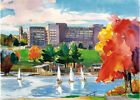 Worcester UMASS MEDICAL Quinsigamond Lake Giclee Paper or Canvas